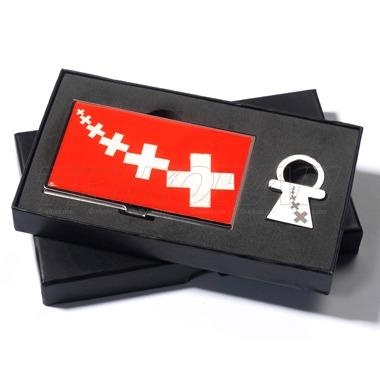 Set Visitenkarten Etui Schlüsselanhänger Schweiz Design