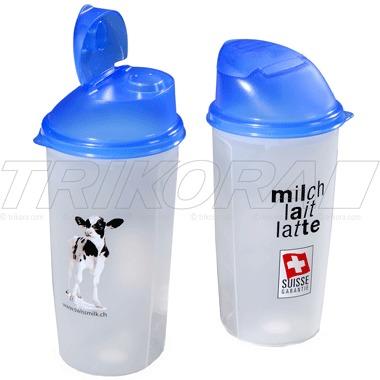 Rotho Shaker 500 ml Skala Schüttelbecher mit Mixrad Deckel mit Ausguss BPA-frei